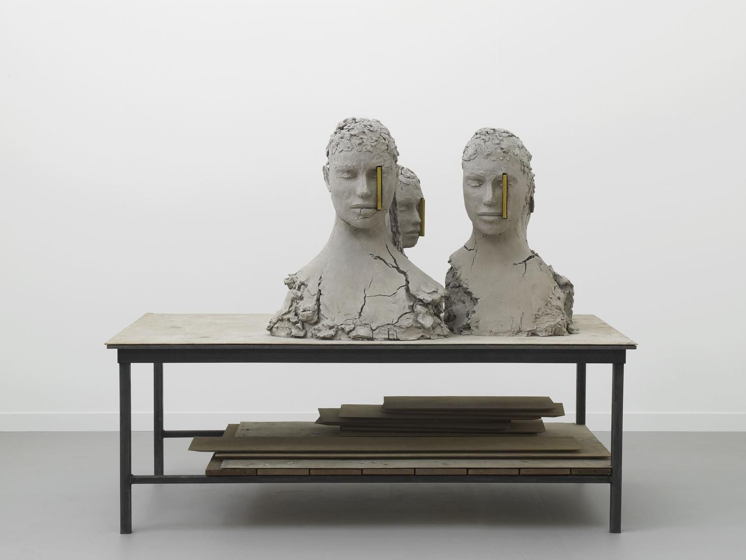 Mark MANDERS Working Table 2017 Painted bronze, pa...
