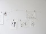 Mark MANDERS Wall with Drawings 1998 pencil on pap...