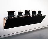 Haim Steinbach Untitled (elephant footstools, elep...
