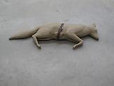 Mark Manders Fox/Mouse/Belt 1992 Painted bronze, b...