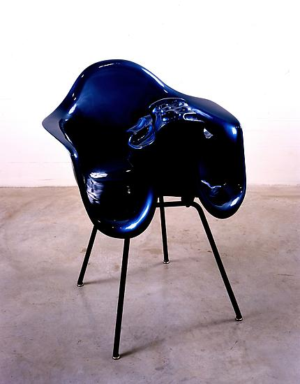 Charles LONG Untitled (Metallic blue) 1993-95 Laqu...