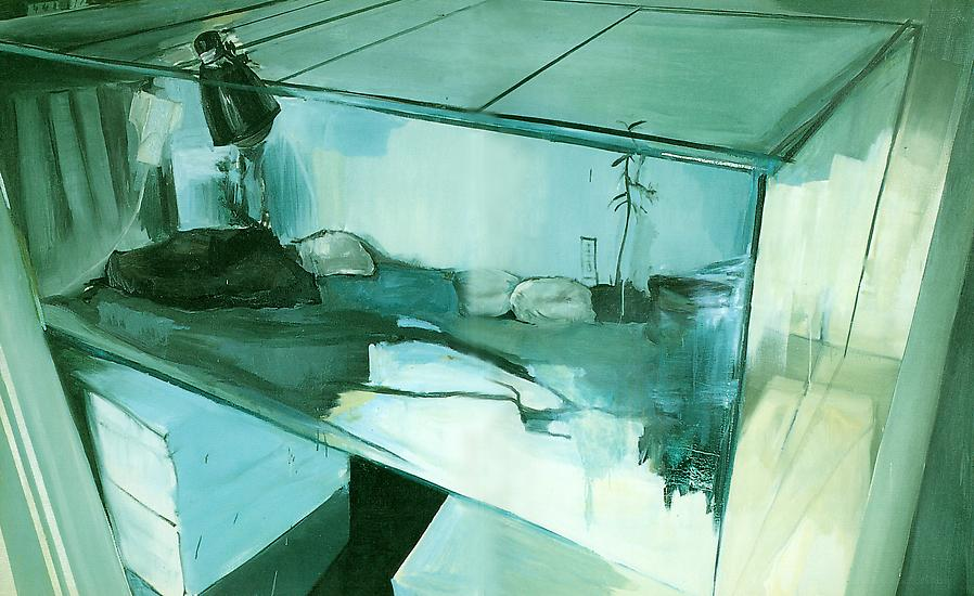 Carla KLEIN Terrarium 1 1996 oil on canvas 59 x 94...