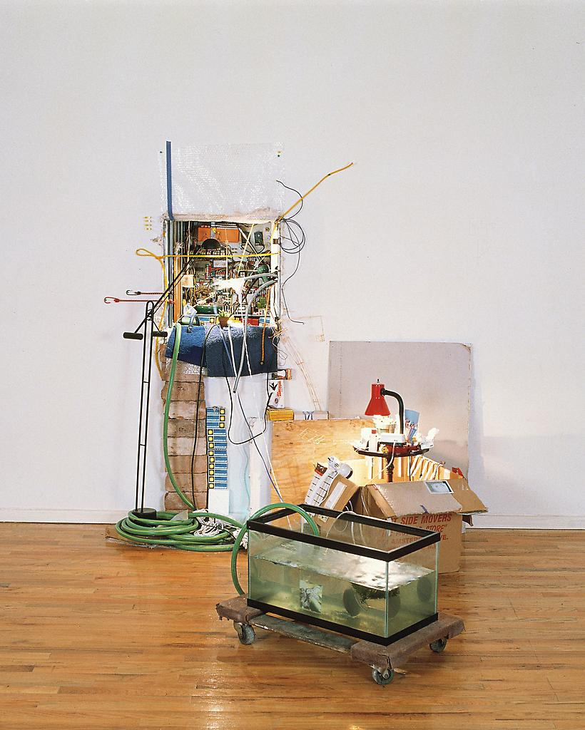 Sarah Sze Ripe Fruit Falling (South) 1997 mixed me...