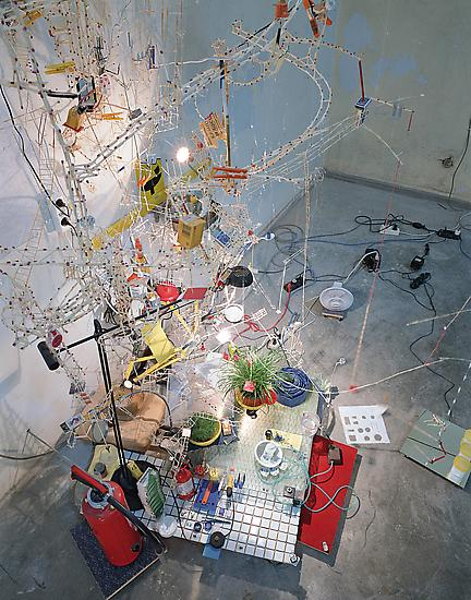 Sarah Sze Second Means of Egress 1998 mixed media...