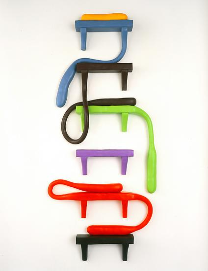 Charles LONG My Colorful Family 1998 Rubber and wo...