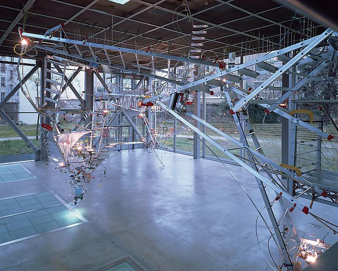 Sarah Sze Everything That Rises Must Converge 1999...