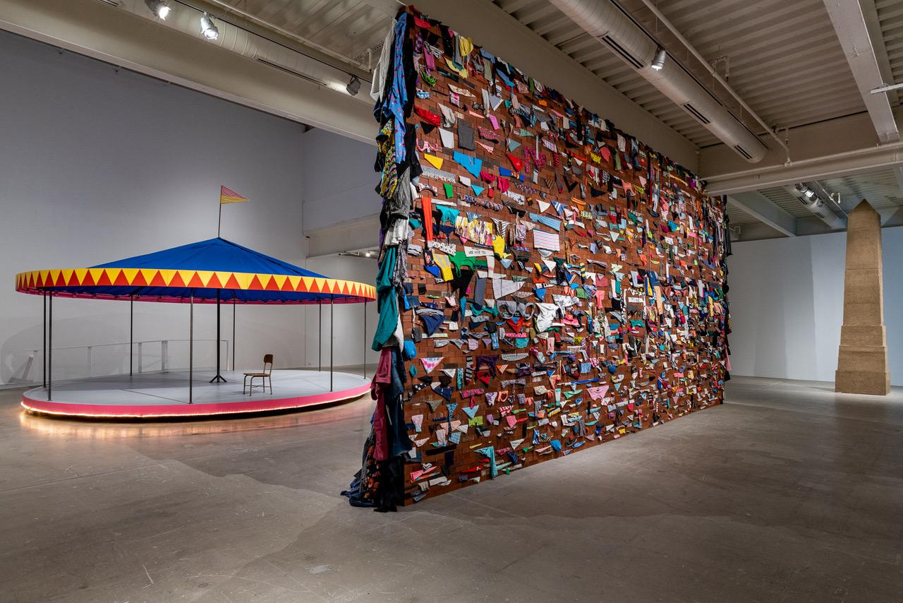 This is an installation image of Karyn Olivier
