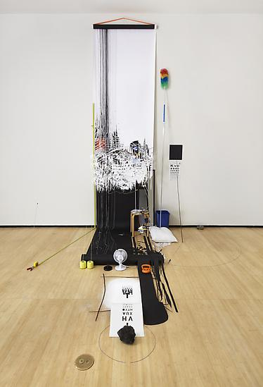 Sarah Sze Random Walk Drawing (Eye Chart) 2011 Mix...