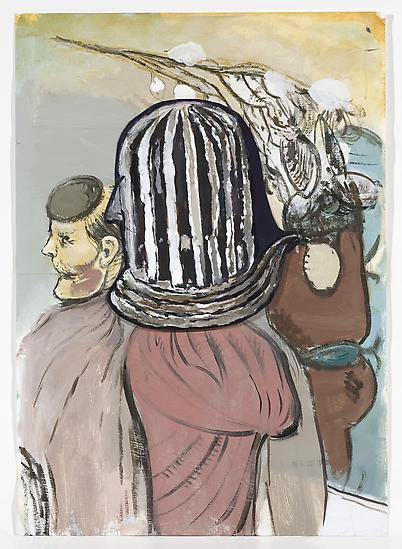 Neal TAIT Untitled (caged head) 2008 acrylic and t...