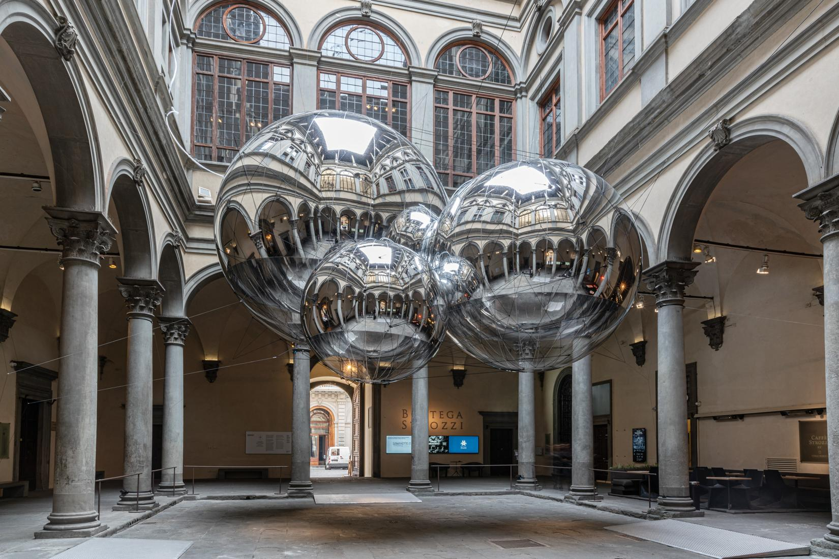 This is an installation image of Tomas Saraceno's...