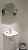Laura Lima Toilet 2014 wall, arms, wood and mirror...