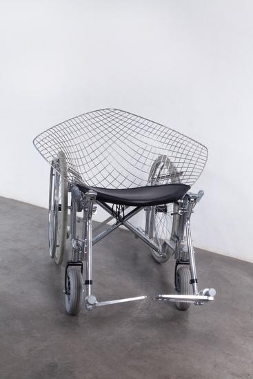 Laura Lima Bertoia Wheelchair 2012 fabric, metal p...