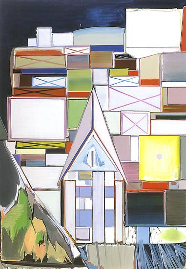 Thomas SCHEIBITZ Haus II 2000 Oil on canvas 90 1/2...