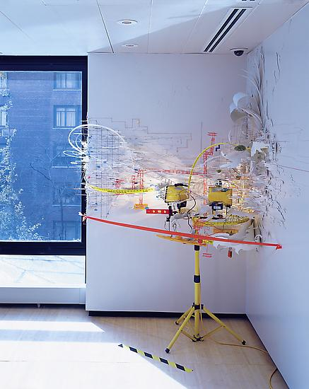 Sarah Sze Hidden Relief 2001 mixed media dimension...