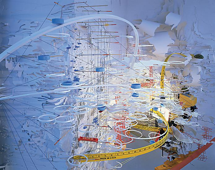 Sarah Sze Hidden Relief 2001 DETAIL...