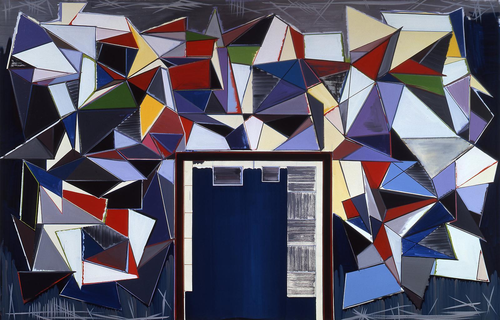 Thomas SCHEIBITZ Eingang (Entrance) 2001 oil and m...