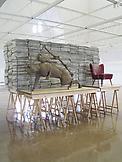 Mark Manders Staged Reading Room 2003 sand, iron,...