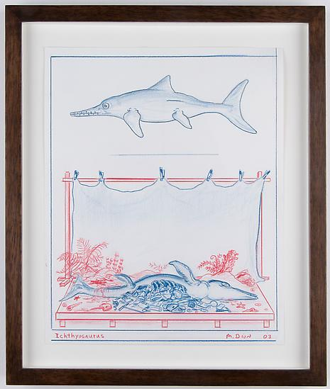 Mark DION Ichthyosaurus 2003 Pencil and colored pe...