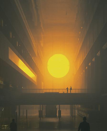 Olafur Eliasson The weather project 2003 Monofrequ...