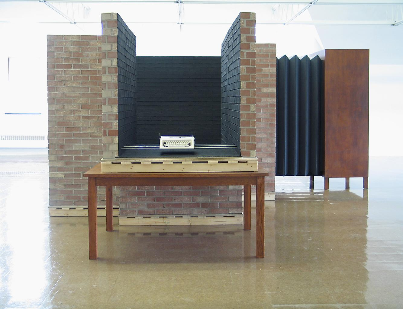 Mark Manders Writing Room/Fiction Machine 2003 typ...