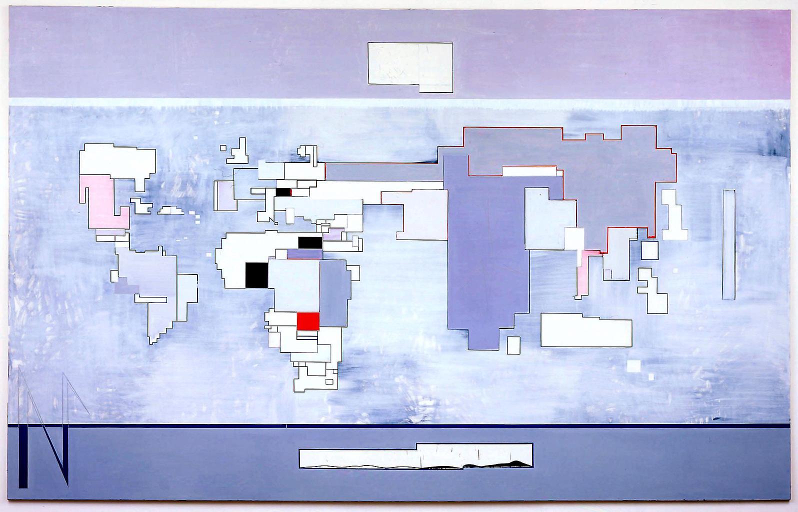 Thomas SCHEIBITZ Map II (New Map) 2004 Oil, pigmen...