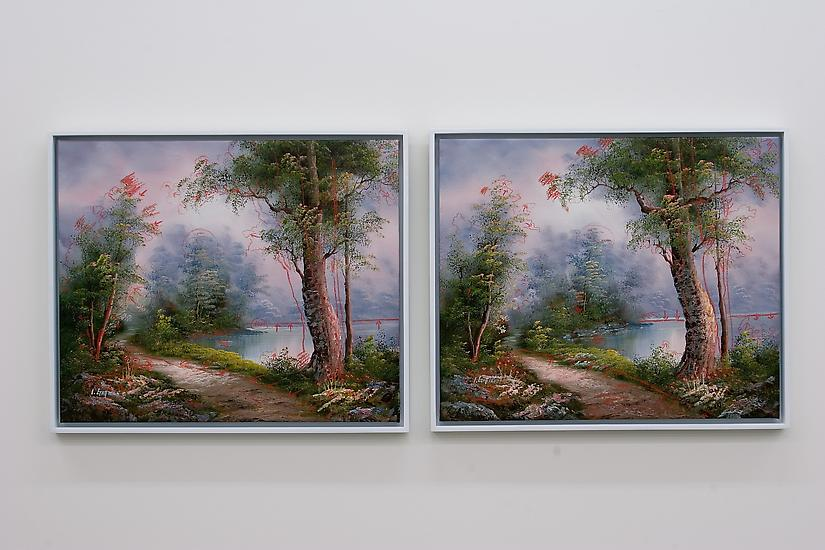 Analia Saban Landscape (Two Different Reproduction...