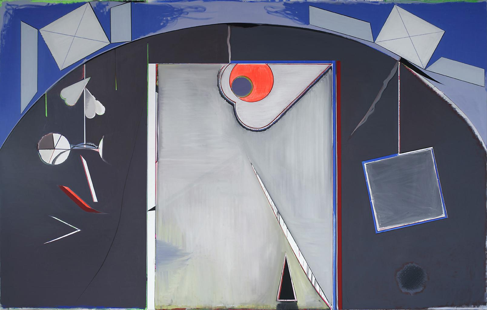 Thomas SCHEIBITZ Eingang 2005 oil and vinyl on can...