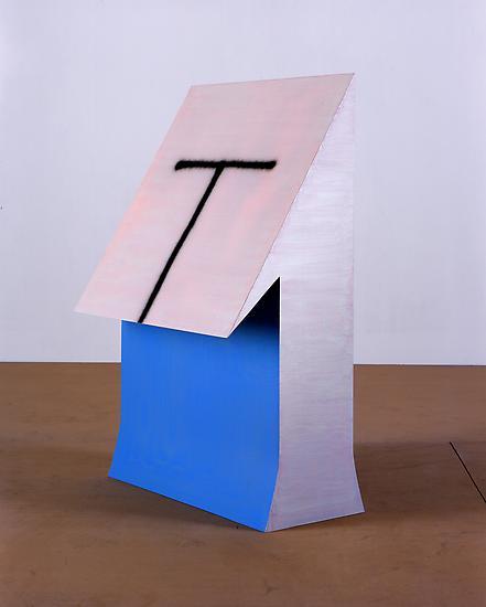 Thomas SCHEIBITZ One 2005 MDF, wood, paint 63 x 39...
