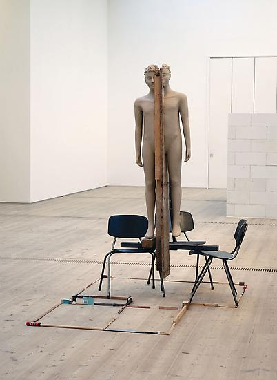 Mark Manders Unfired Clay Figure 2005-2006 Iron ch...
