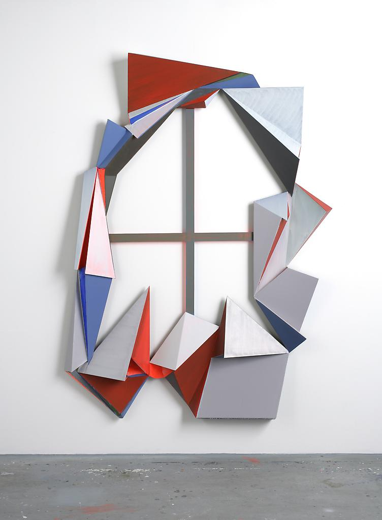 Thomas SCHEIBITZ Cross and Valley 2006 painted MDF...