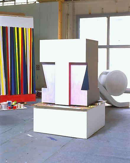 Thomas SCHEIBITZ Block 2006 Painted MDF 51 1/2 x 3...