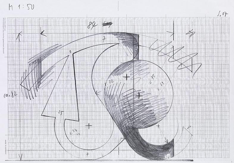 Thomas SCHEIBITZ Untitled 2007 pencil on photocopy...