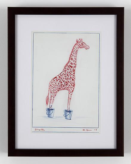 Mark DION Giraffe 2007 colored pencil on paper 12...