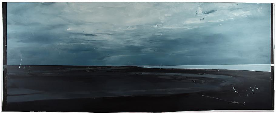 Carla KLEIN Untitled 2007 oil on canvas 55 x 138 i...