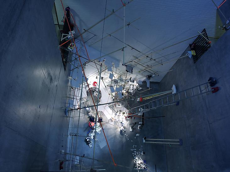 Sarah Sze Just Now Dangled Still 2008 mixed media...