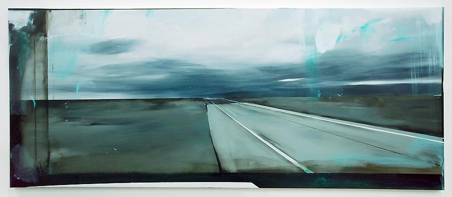 Carla KLEIN Untitled 2008 oil on canvas 35 1/2 x 8...