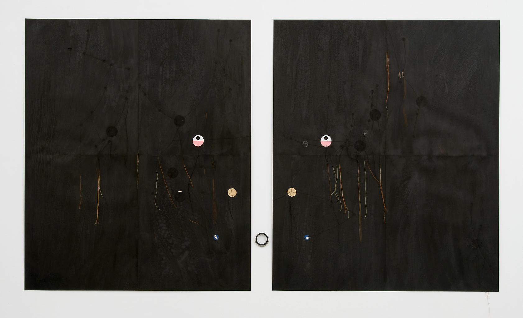 Dirk Stewen Untitled 2008 ink, cotton, and confett...