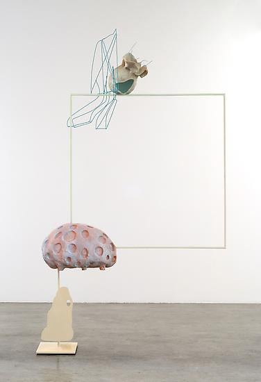 Charles LONG Untitled 2009 acrylic over steel, mix...