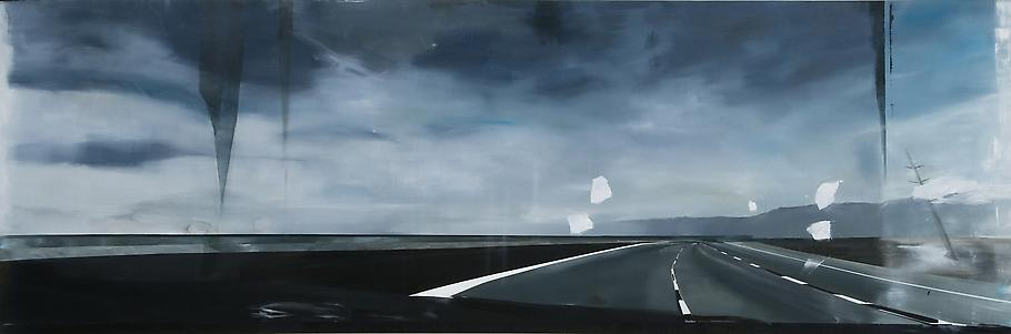 Carla KLEIN Untitled 2009 oil on canvas 59 x 177 1...
