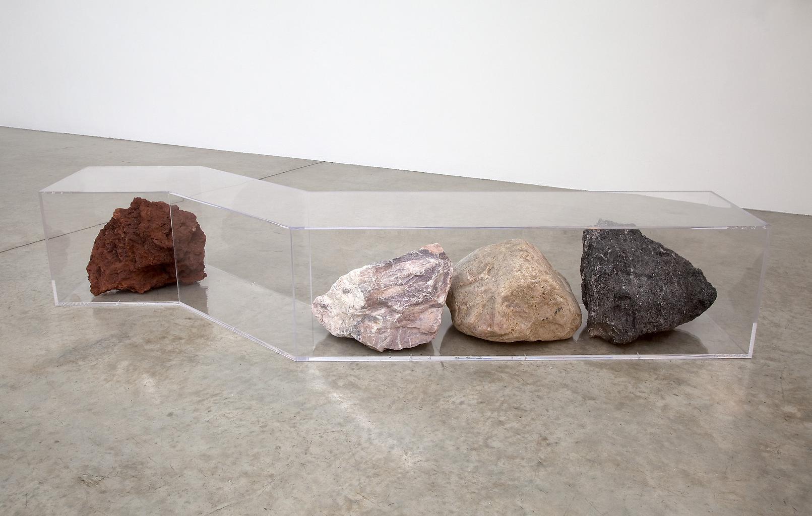 Nicole WERMERS Untitled (bench) 2010 plexiglas, ro...