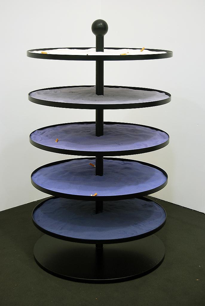 Nicole WERMERS Untitled ashtray (purple blue) 2010...