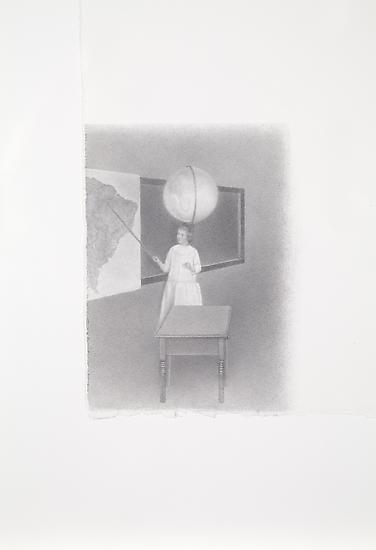 Peggy PREHEIM The Astronomer 2010 pencil on paper...