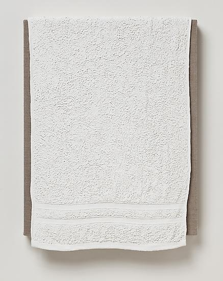 Analia Saban Two Stripe Bath Towel 2011 acrylic on...