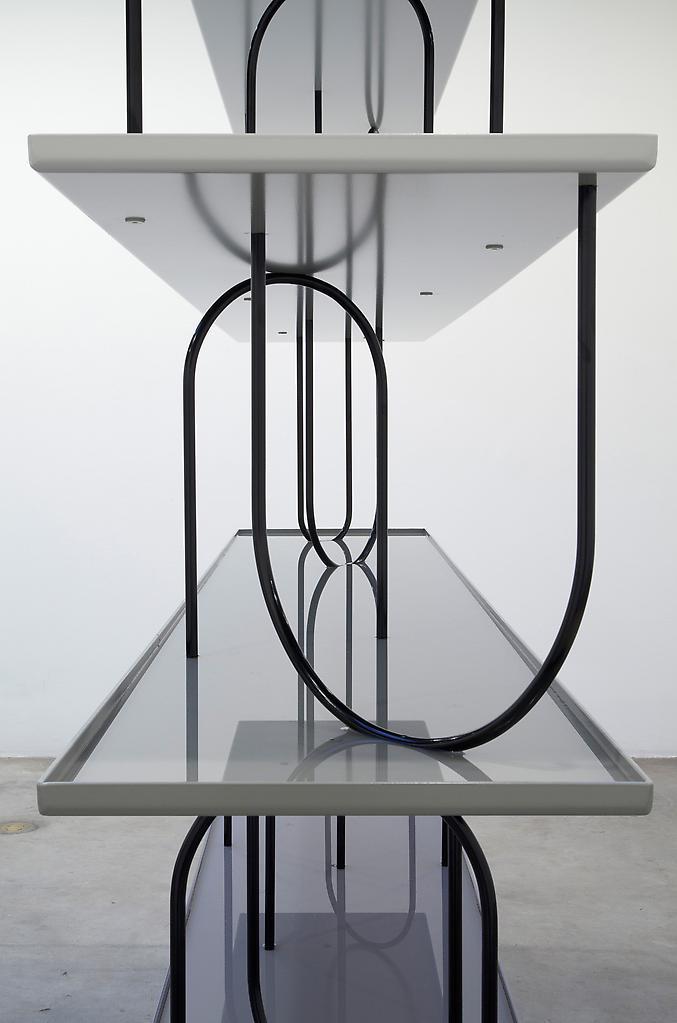 Nicole WERMERS Wasserregal (detail) 2012 zinc, pow...