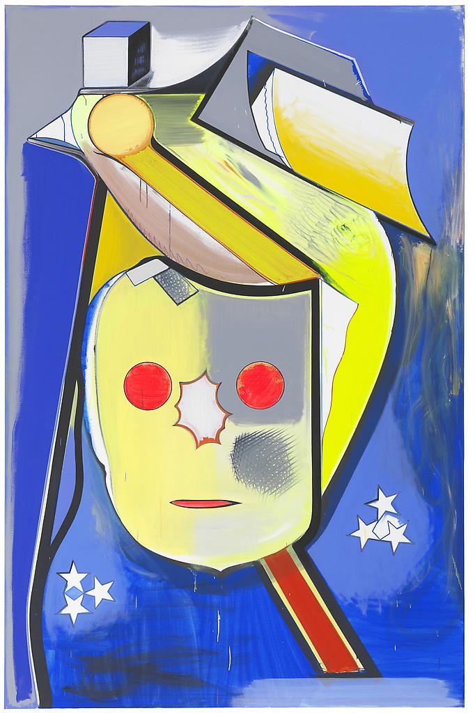 Thomas SCHEIBITZ Henry Stand 2012 Oil, vinyl, pigm...