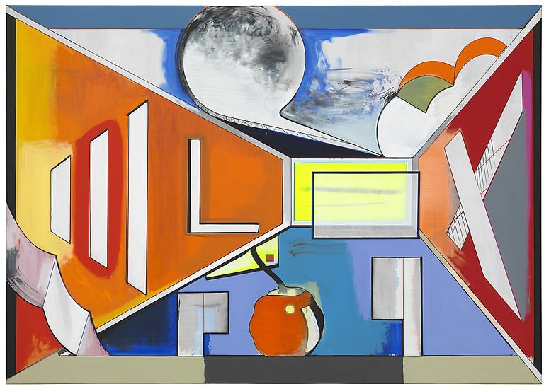 Thomas SCHEIBITZ Studio 2012 Oil, vinyl, pigment m...