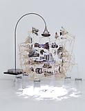 Sarah Sze Dark Matter 2012 mixed media 33 x 33 x 2...
