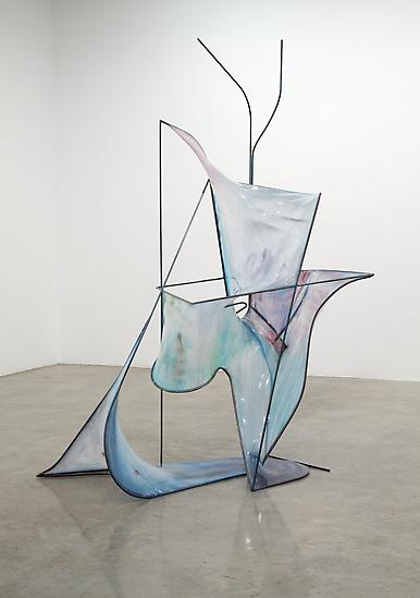 Charles LONG Untitled 2012 steel, fabric, ecopoxy,...