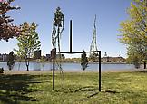 Charles LONG Untitled 2013 bronze and lead 120 x 4...