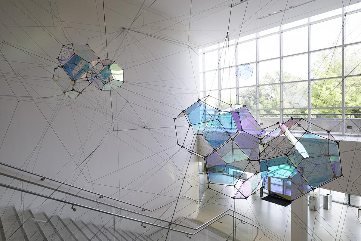 Intallation view, Tomás Saraceno: Entangled...